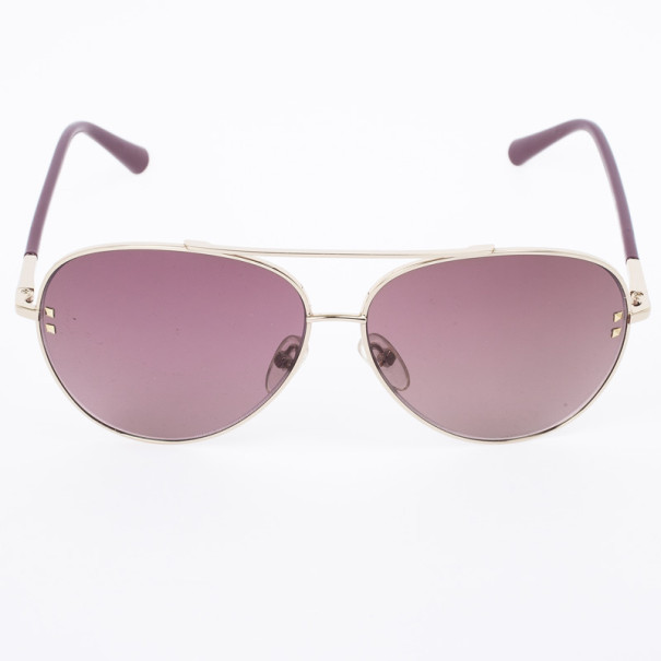 Valentino Gold Rougenoir 106S Aviator Womens Sunglasses