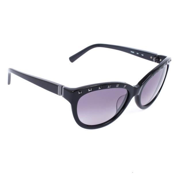Valentino Black 622S Cat Eye Womens Sunglasses