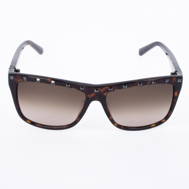 Valentino Brown 606S Studded Oversize Womens Sunglasses