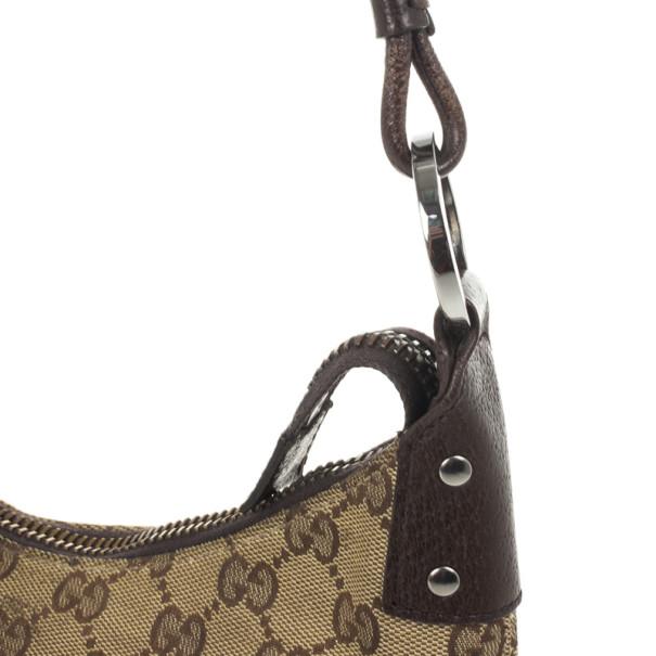 Gucci GG Canvas Monogram Brown Hobo