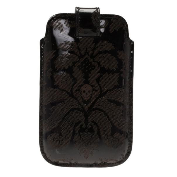 Alexander McQueen Black Patent iPhone Case