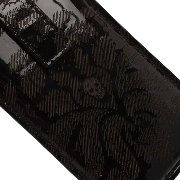 Alexander McQueen Black Patent iPhone Case