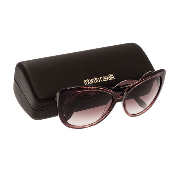 Roberto Cavalli Purple Leopard Frame Serpent Kurumba Cat Eye Sunglasses