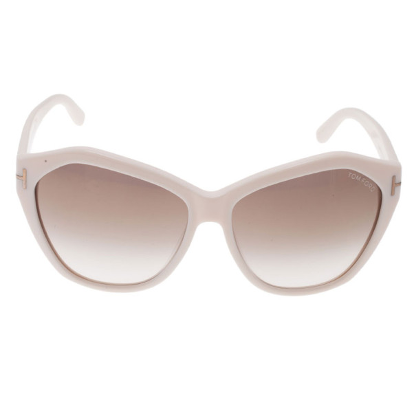 Tom Ford Ivory Oversized Angelina Sunglasses