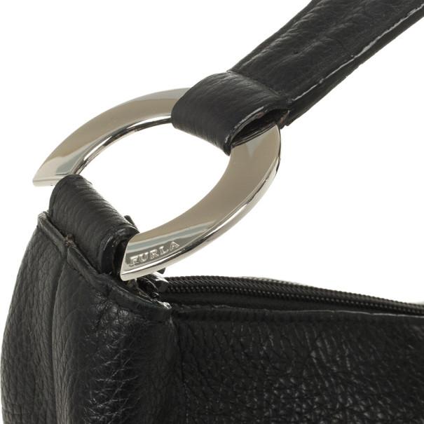 Furla Onyx Leather 'Hope' Shoulder Bag