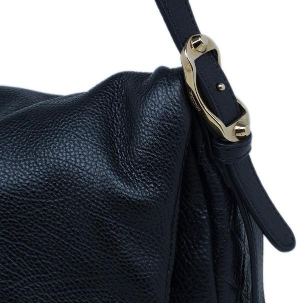 Jimmy Choo Black Leather Bacchus Bag