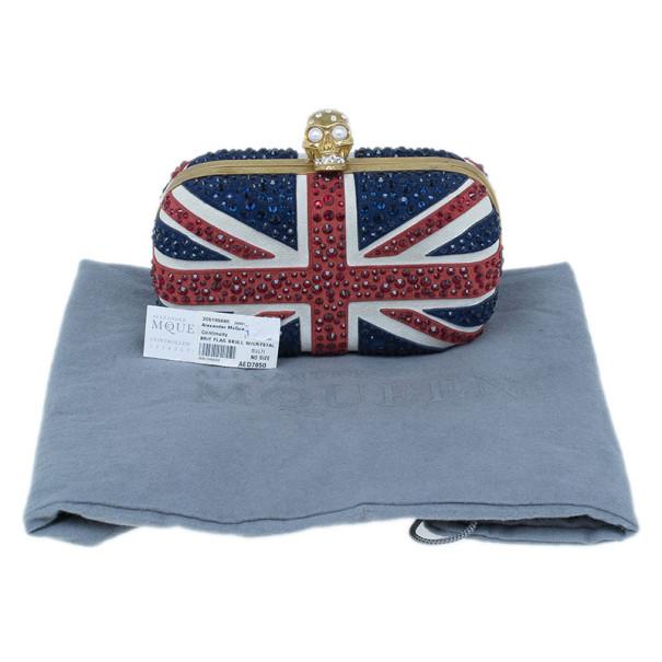 Alexander McQueen Crystal Embellished Brit Flag Clutch