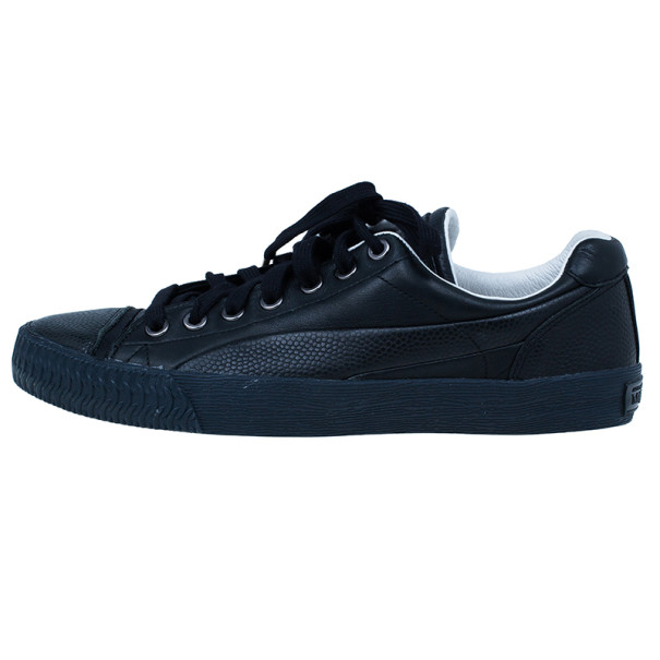 Alexander McQueen for Puma Black Leather Street Climb Low Top Sneakers Size 39