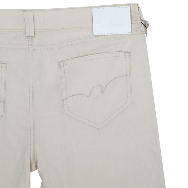 Emporio Armani Off-White Linen Trousers M