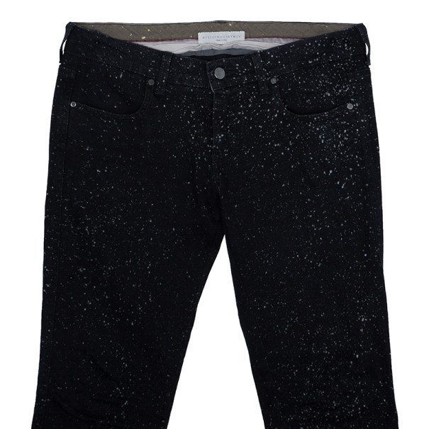 Stella McCartney Black Dotted Jeans M