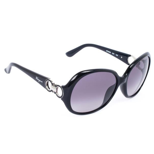 Salvatore Ferragamo 602S Black Round Womens Sunglasses