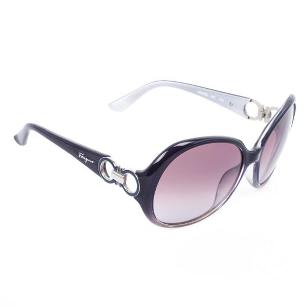 Salvatore Ferragamo 602S Grey Round Womens Sunglasses
