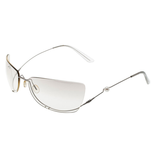 Chanel Silver 4053 Rimless Pearl Sunglasses