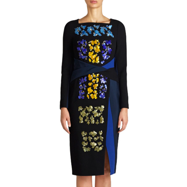 Peter Pilotto Codie Embellished Printed Dress S