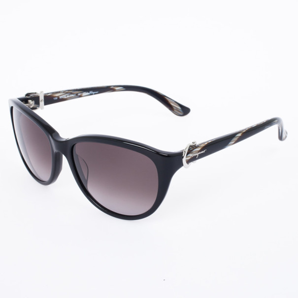 Salvatore Ferragamo Black 614S Cat Eye Women's Sunglasses