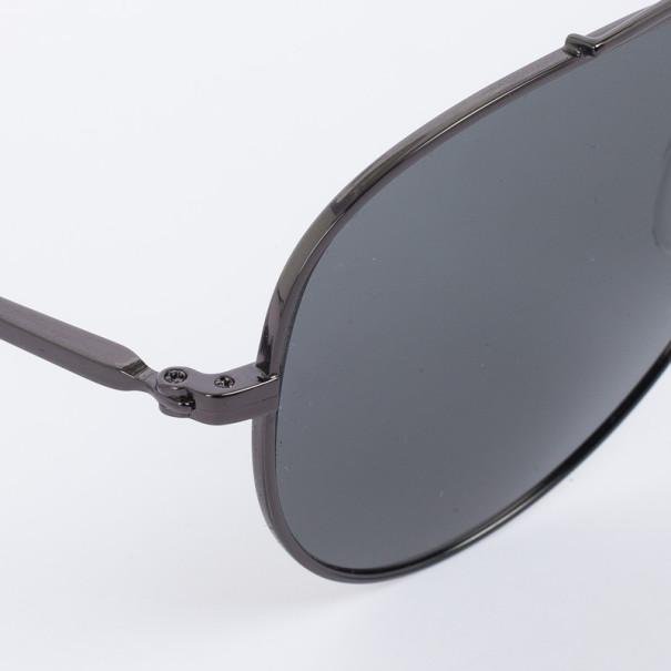 Calvin Klein Dark Gunmetal 7477SP Aviator Sunglasses