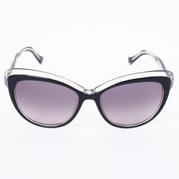 Emilio Pucci 721S Black Crystal Cat Eye Womens Sunglasses