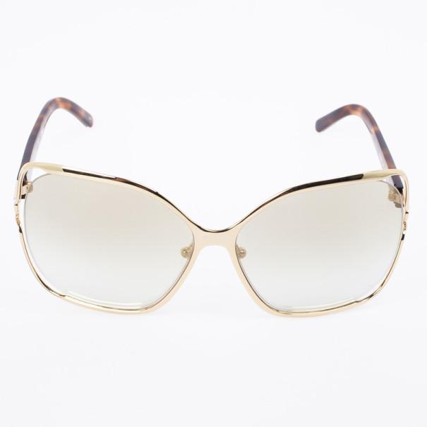Chloe Gold Havana CE108S Square Women's Sunglasses