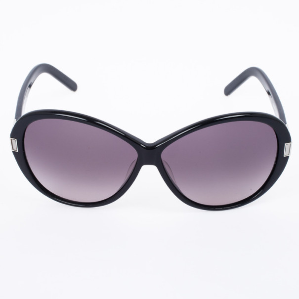 Chloe Black 605S Round Women's Sunglasses