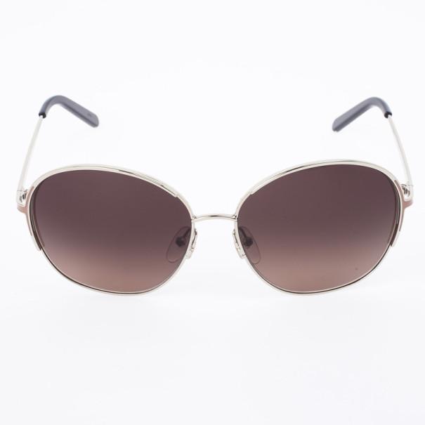 Chloe Gold Brown 104S Round Women's Sunglasses