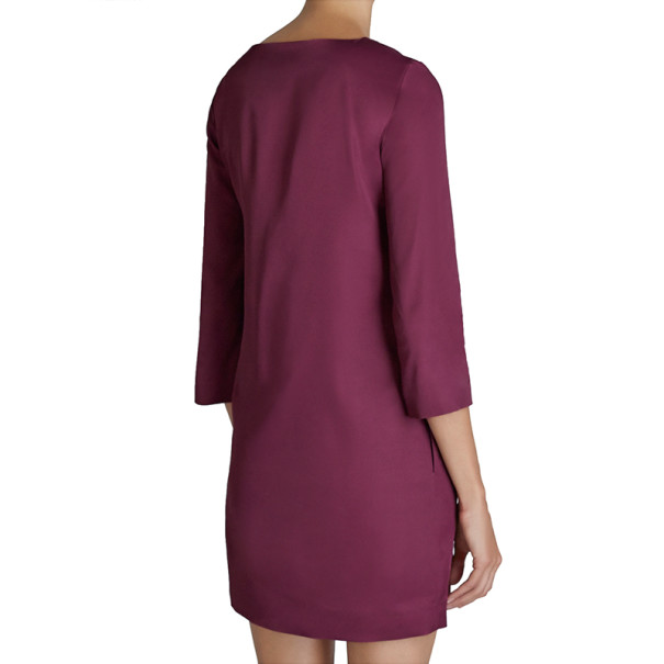 Mary Katrantzou Elio Burgundy Printed Shift Dress S
