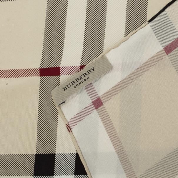 Burberry Haymarket Check Silk Square Scarf