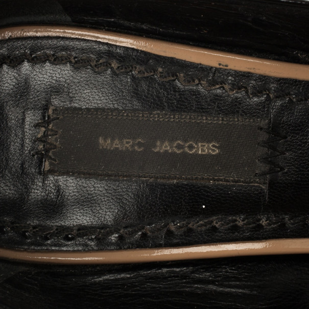 Marc Jacobs Nude Patent Leather Strappy Pumps Size 37.5