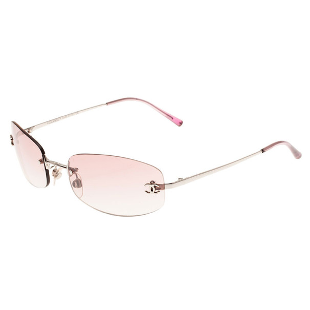 Chanel Pink 4002 Rimless CC Aviators