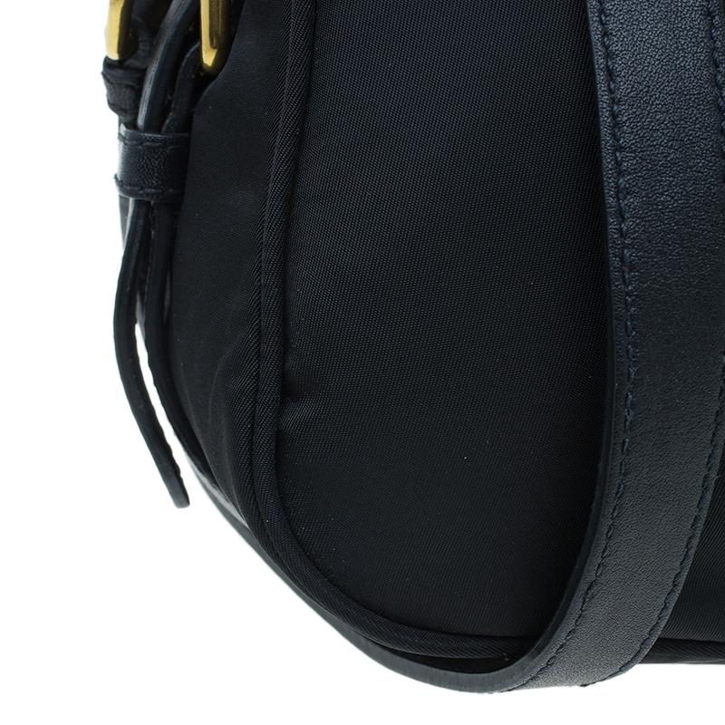 Prada Black Tessuto Nylon Satchel Bag