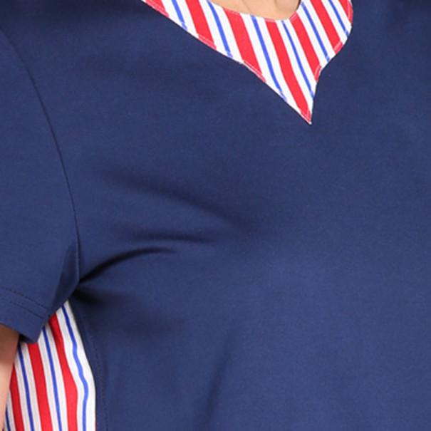 Roksanda Ilincic Aubin Navy Wool and Silk Top S