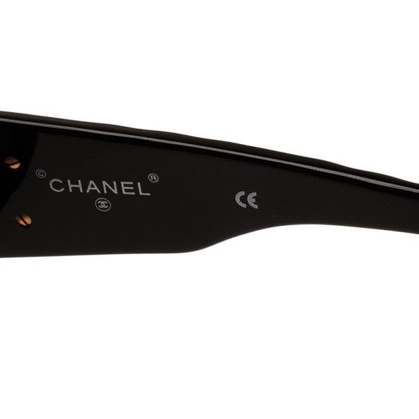 Chanel Black 01450 Quilted Vintage Sunglasses