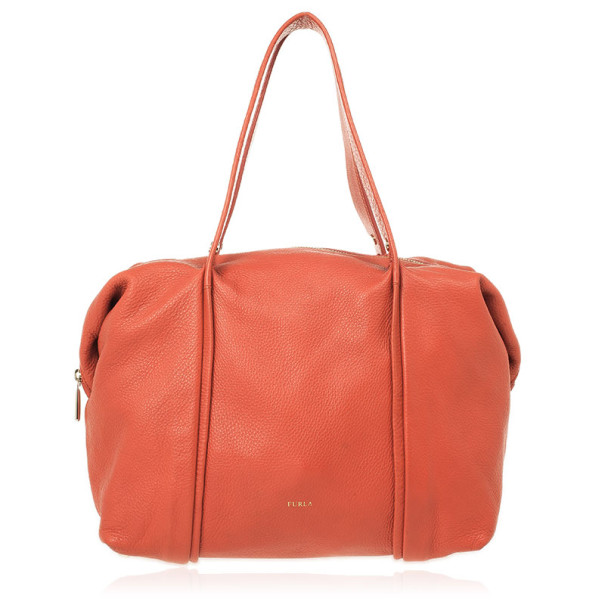 Furla Red Leather Medium Hobo