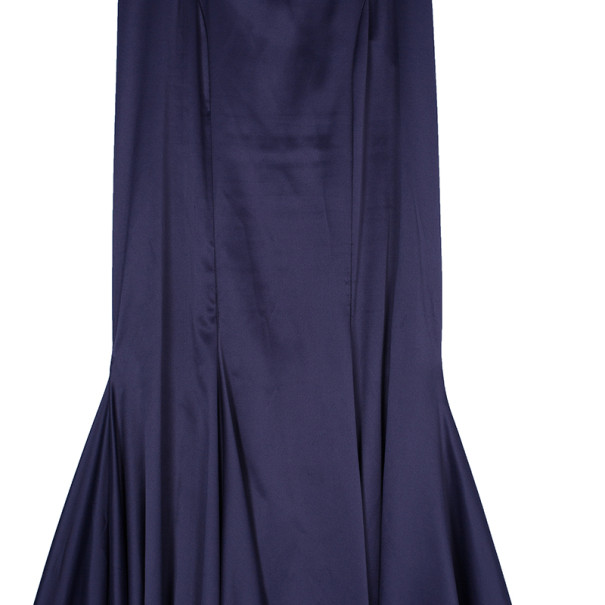 Just Cavalli Satin Purple Gown S