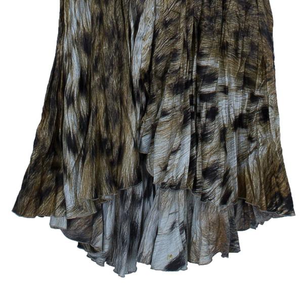 Just Cavalli Animal Print Silk Maxi Dress S