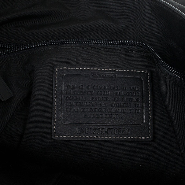 Coach Black Heritage Web Leather Messenger
