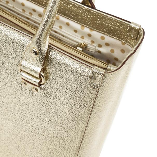 Kate Spade Gold Metallic Wellesley 'Quinn' Tote