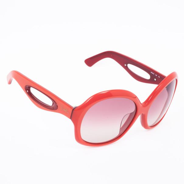 Emilio Pucci Coral Red Square Womens Sunglasses