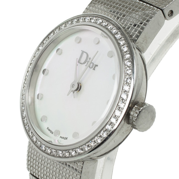 Christian Dior SS MOP Diamond Womens Wristwatch 23 MM