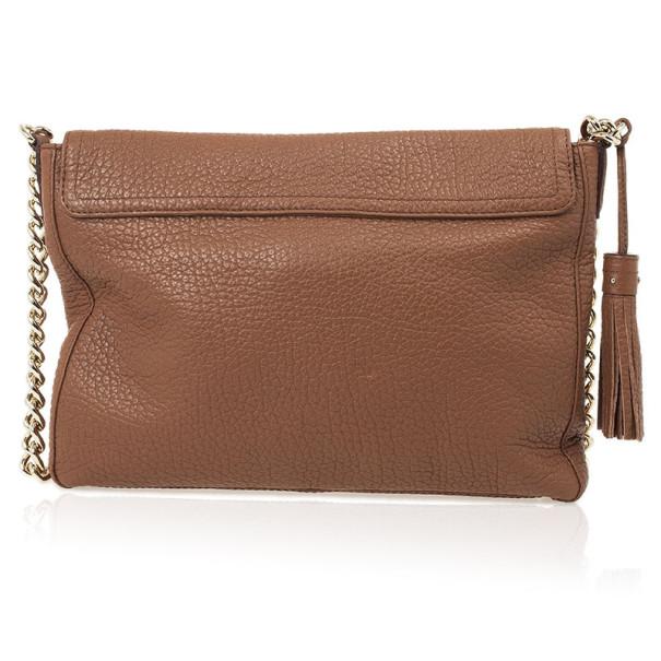 Carolina Herrera Brown Leather Flap Bag