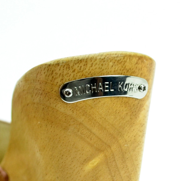 MICHAEL Michael Kors Tan Suede Easton Mules Size 38.5