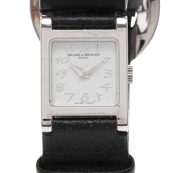 Baume & Mercier White Stainless Steel Vice Versa Women's Wristwatch 20MM