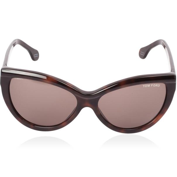 Tom Ford Brown Anouk Cat Eye Woman Sunglasses