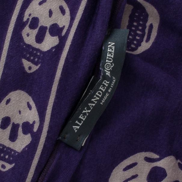 Alexander McQueen Purple Skull Scarf