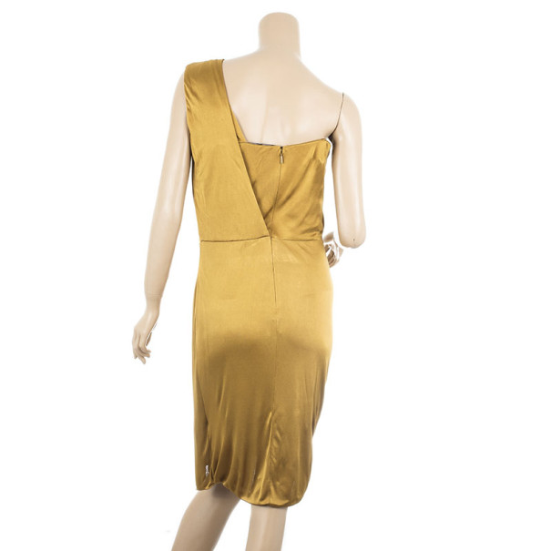 Gucci Gold Side Draped Dress M