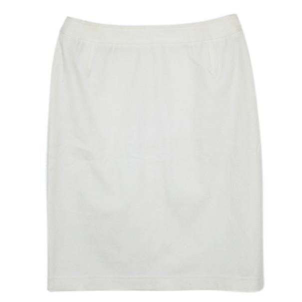 Escada White Pencil Skirt M