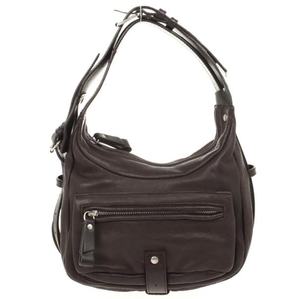 Furla Brown Leather Zip Pocket Hobo