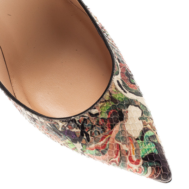 Christian Louboutin So Kate Artistic Print Python Pumps Size 37.5
