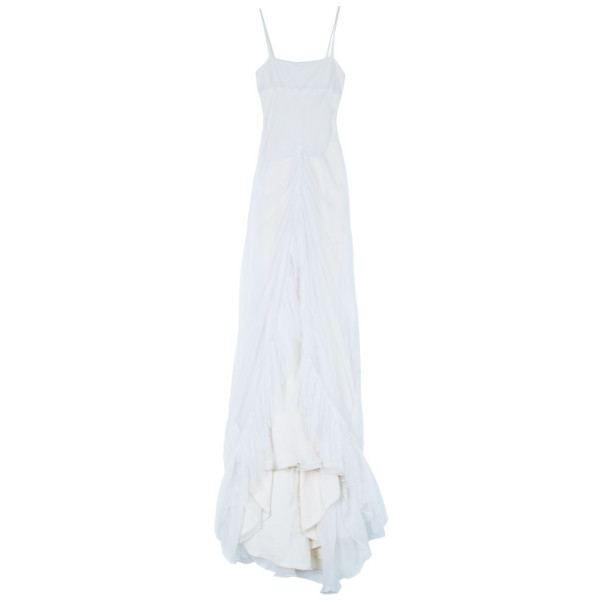 Vera Wang Rouched Tulle Wedding Gown M