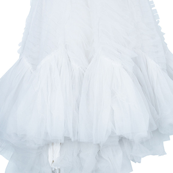 Vera Wang Briana Strapless Pleated Wedding Dress M