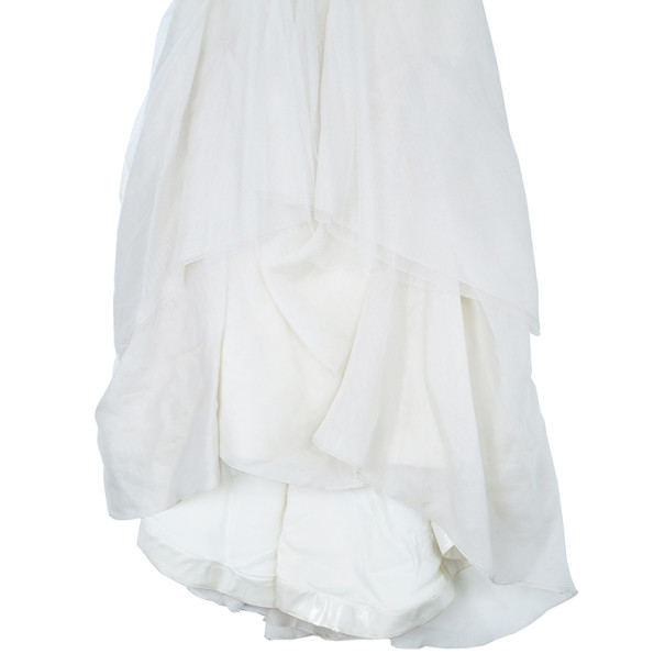 Vera Wang Ivory Tulle Gathered Wedding Dress M